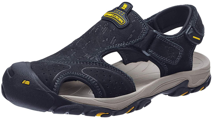 4. CAMEL CROWN Mens Hiking Sandals – Black7817