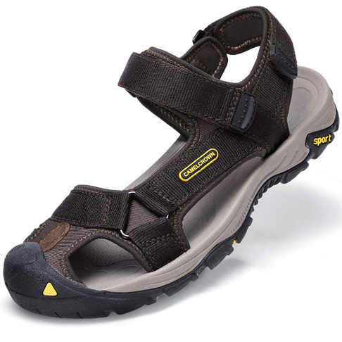 8. CAMEL CROWN Men's Waterproof Hiking Sandals (Brown)