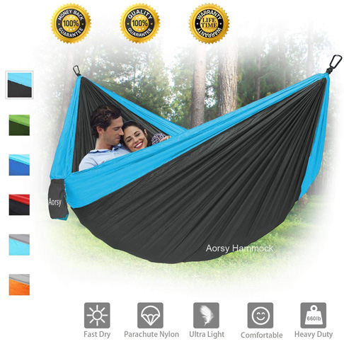 10. AORSY XL Portable Camping Hammock for 2 Person