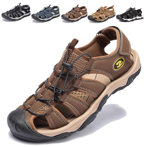 2. KIIU Mens Closed Toe Sandals