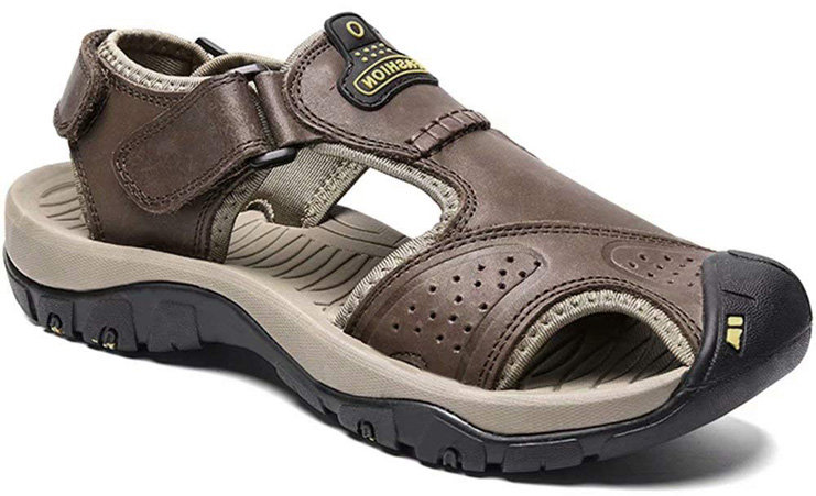 3. Visionreast Mens Leather Sandals