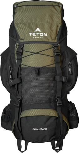 1. TETON Sports Scout 3400 Internal Frame Backpack - Preferred
