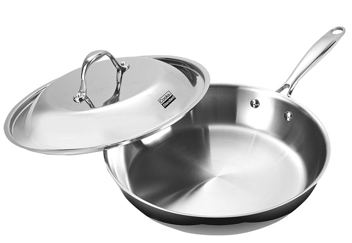 5. Cooks Standard Multi-Ply Clad Fry Pan (12-Inch), Silver