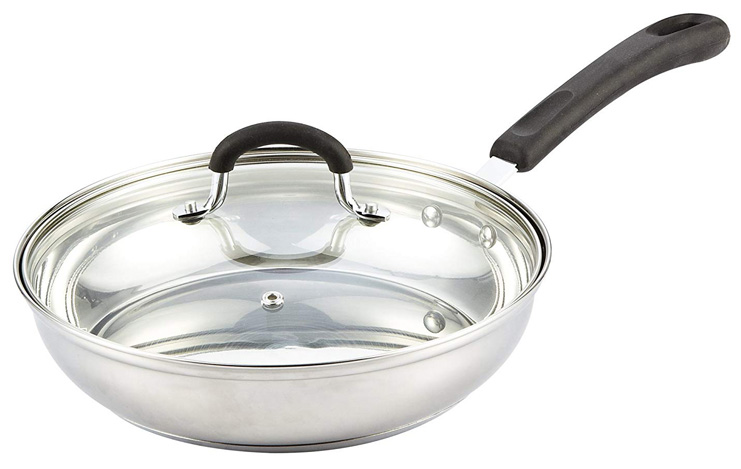 1. Cook N Home 10-Inch Stainless Steel Fry Pan with Lid - Preferred