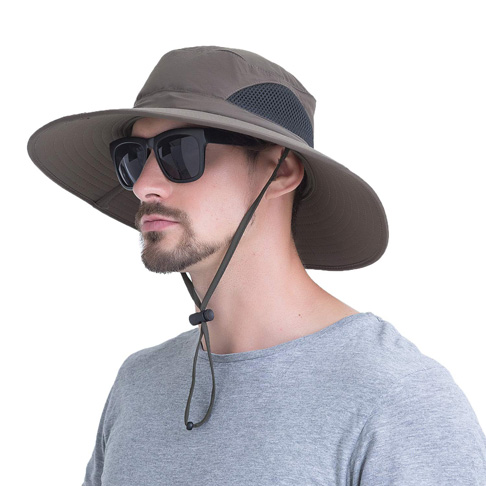 9. Outdoor Boonie UPF 50+ Wide Brim Waterproof Cap