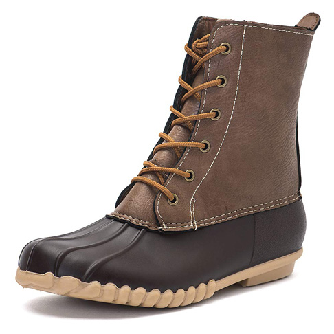 2. DKSUKO Women's Duck Boots