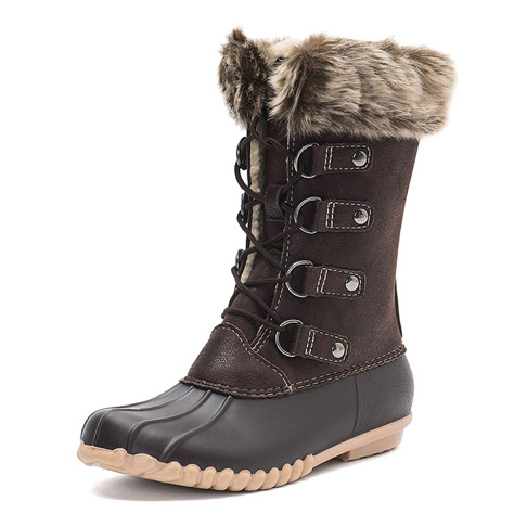3. DKSUKO Women's Winter Duck Boots