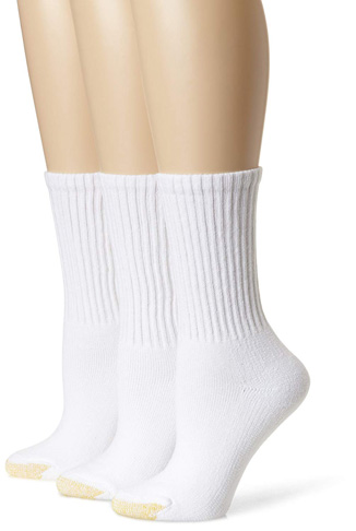 6. Gold Toe Women's 3-Pack Ultratec Crew Socks