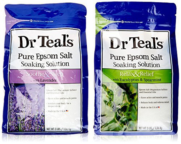 2. Dr Teal's Epsom Salt Bath Soaking Solution, 2 Count