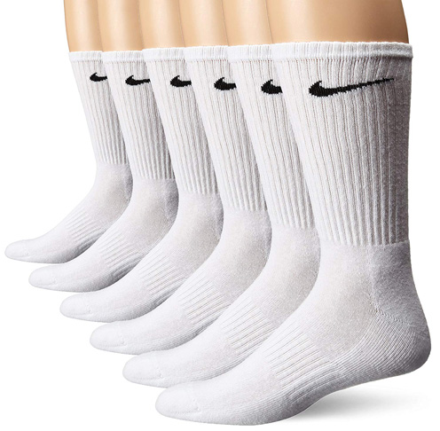 2. NIKE Performance Cushion Crew Socks with Band (6 Pairs)