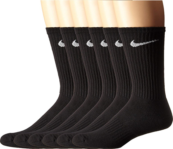 5. NIKE Performance Cushion Crew Socks 6 Pairs) -Preferred