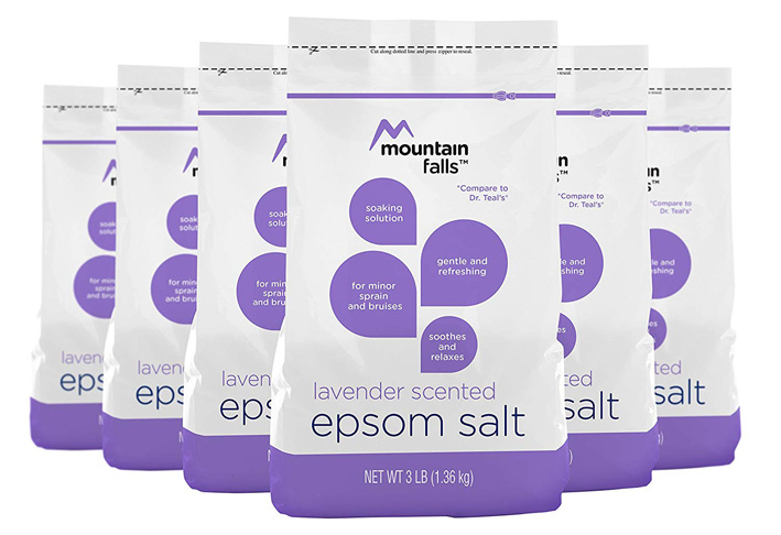 7. Mountain Falls Lavender Scented Epsom Salt (Pack of 6)