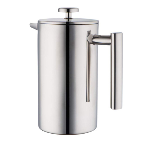 8. MIRA 34 oz Stainless Steel French Press Coffee Maker with 3 Extra Filters