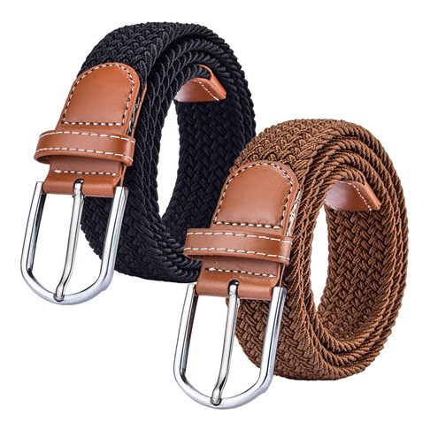 6. Trooper 2 Pack Braided Canvas Belts Womens