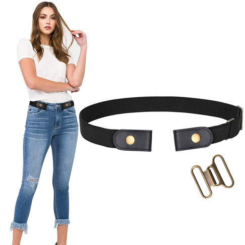 1. WERFORU No Buckle Belt for Women -Preferred