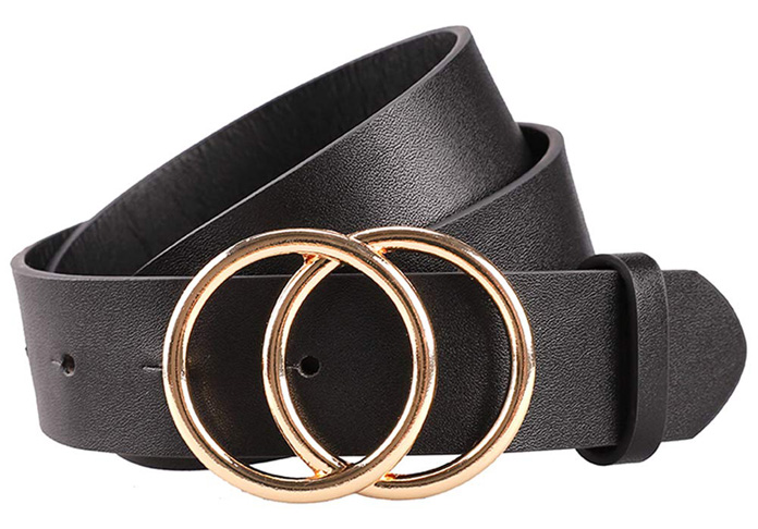 3. Earnda Women's Leather Belt For Jeans Dress -Preferred