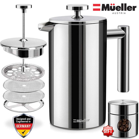 5. Mueller French Press Coffee Maker - Preferred