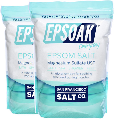 1. Epsoak 38 lbs. USP Epsom Salt (Qty 2 x 19 lb. Resealable Bulk Bags) - Preferred