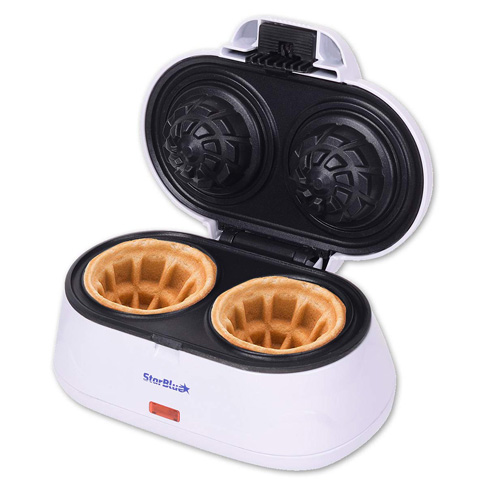 7. StarBlue Double Waffle Bowl Maker