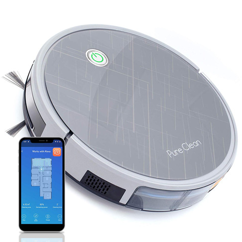 8. Pure Clean PUCRC660 Robot Vacuum Cleaner