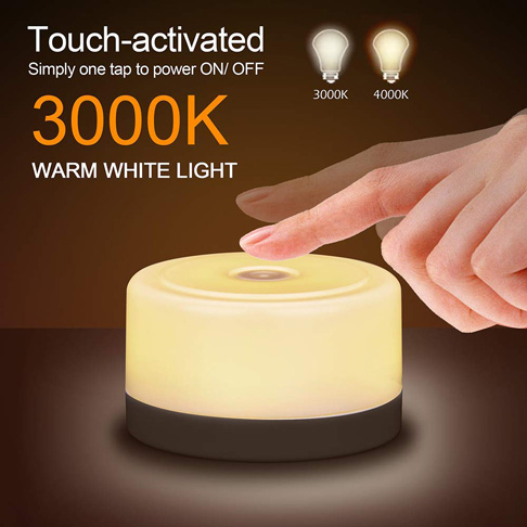 10. Ruoi Touch Sensor Bedside Lamp