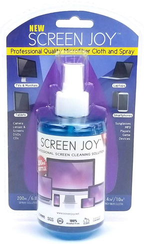 5. Screen Joy Computer Screen Cleaner and Microfiber Cloth