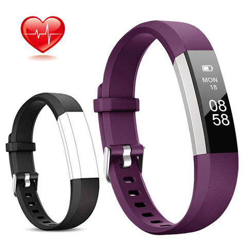 2. Lintelek Activity Tracker with Heart Rate Monitor