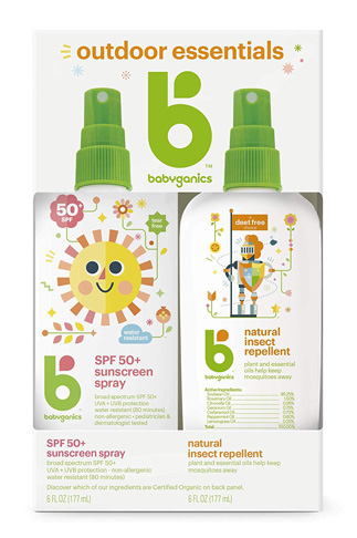 2. Babyganics Sunscreen Spray 50 SPF and Bug Spray - Preferred