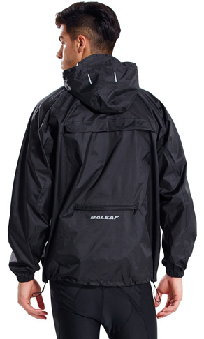 1. Baleaf Men's Hooded Rain Jacket