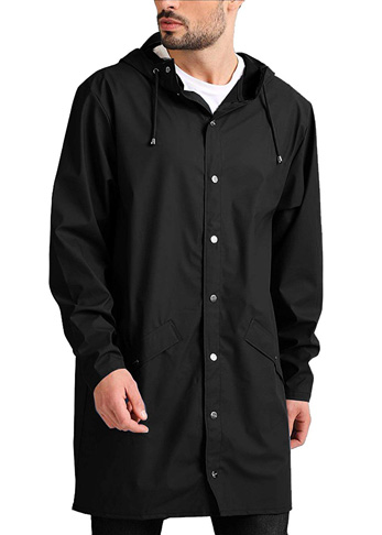9. JINIDU Men's Long Raincoat