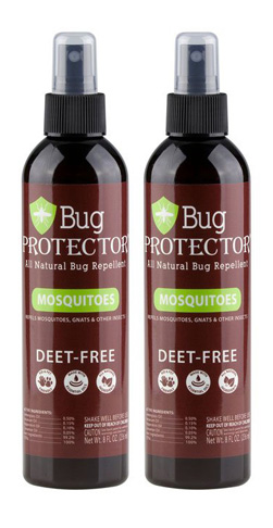 5. Bug Protector 8 oz Mosquito/Insect Repellent Spray (2 Bottles)