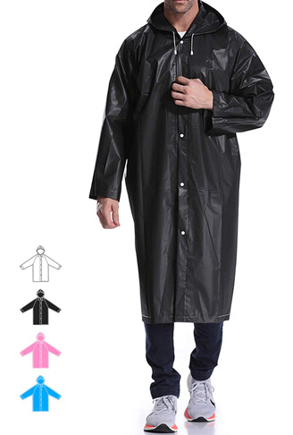 7. Hapshop Reusable Raincoat for Adults -Preferred