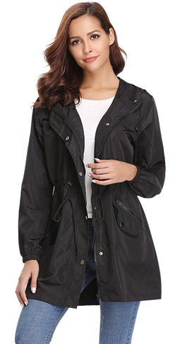 4. Abollria Womens Raincoat