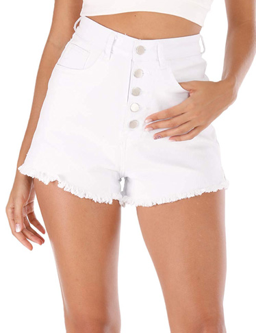 7. Haola Womens Waisted Denim Shorts - Preferred