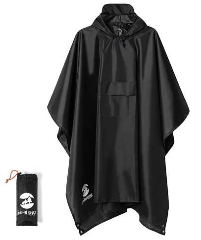 3. Hooded Waterproof Rain Poncho for Adults -Preferred
