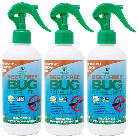 8. Greenerways 12oz 3 Pack Natural Bug Spray