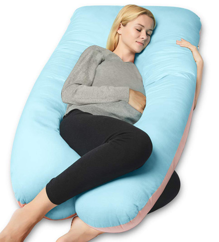 2. QUEEN ROSE Double Sided Pregnancy Pillow with Cover