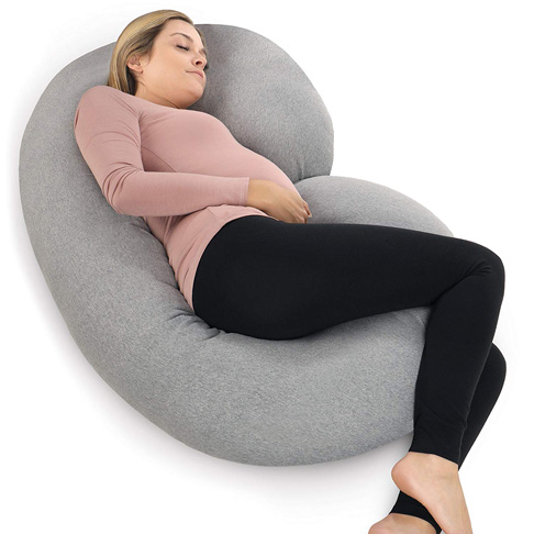 1. PharMeDoc Pregnancy Pillow with Jersey Cover - Preferred