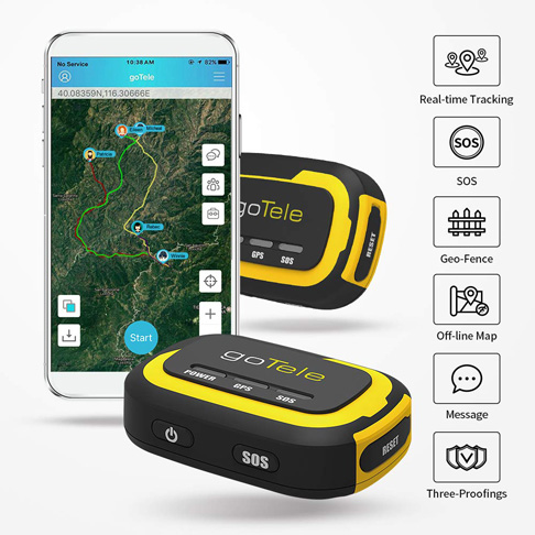2. goTele 2 Pack Portable Off-grid GPS Tracking Device