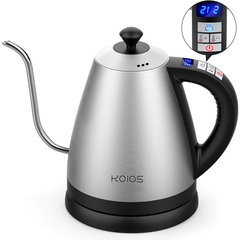 6. Doctor Hetzner 1.2L Electric Kettle with Variable Temperature