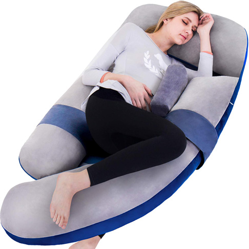 9. Awesling 60in Extra Large U Shape Full Body Pillow