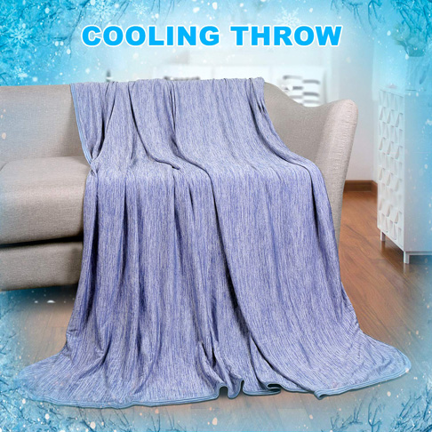 3. LUXEAR 51 X 67in Blue Cooling Blanket
