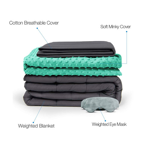 9. BUZIO 4 Piece Set Weighted Blanket