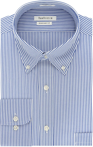 2. Van Heusen Men's Dress Shirt Regular Fit Pinpoint Stripe