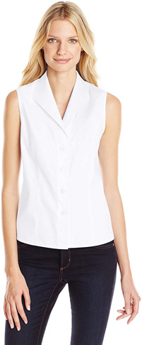 9. Calvin Klein Women's Sleeveless Button Down Shirt