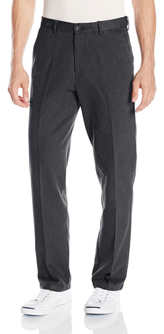 6. Haggar Men's Heathered Corduroy Classic Fit Front Pant