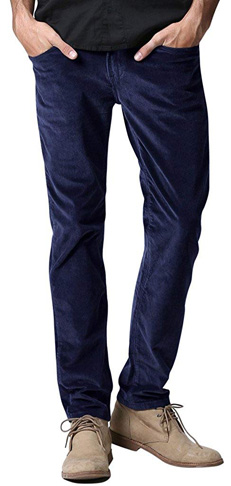 2. Match Men's Slim-Tapered Corduroy Pants – Flat Front