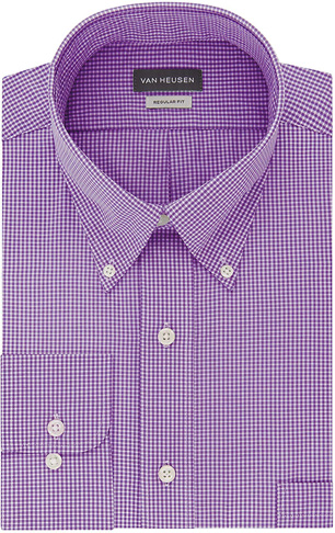 8. Van Heusen Mens Dress Shirts Regular Fit Button Down Collar - Preferred