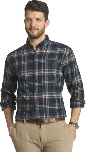 3. G.H. Bass & Co. Men's Fireside Flannels Button Down Shirt - Preferred