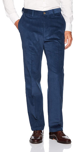 5. Haggar Men's Stretch Corduroy Classic Fit Pant - Preferred